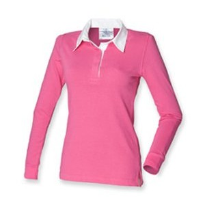 Polo rugby femme - FR101 - Bright pink