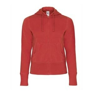 Sweat femme grand zip - BC506 - Rouge